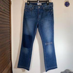 Derek Lam 10 Crosby Denim Gia Flare Crop Jeans